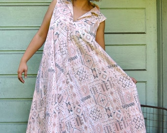 Vintage Pink Tribal Dress