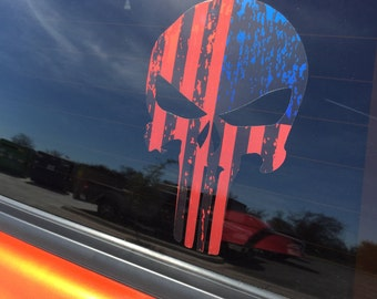 American Punisher Flag decal