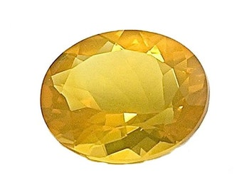 Oregon Opal Faceted Gem Stone Brilliant yellow with fire 2.4 carats, Precious gemstone, October Birthstone, US Jewel, Natural, Not enhanced