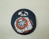 BB-8 Star Wars Force Awakens Badge Reel ID Holder Disney Fabric Nurse RN Doctor Geek Drone Teacher Lanyard Fabric Button Accessory