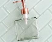 Boxy Copper Soap Dispenser