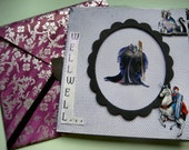 Maleficent Disney prince and dragon card