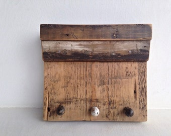 Key Holder Shelf Organizer Handmade with Reclaimed Wood