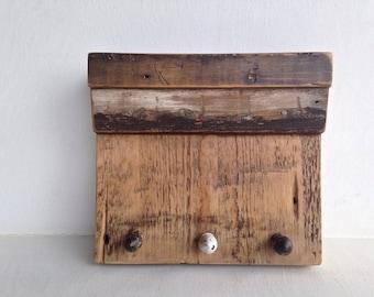 Key Holder Shelf Organizer Handmade with Reclaimed Wood