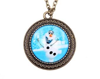 Frozen Necklace, OLAF Necklace, 2525C