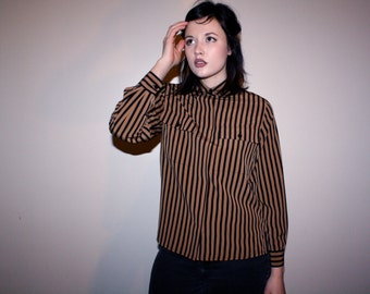 90s Vertically Striped Top