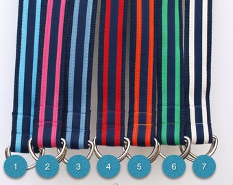 Striped Ribbon Belts / Collegiate Striped Belts / Gifts for Dad / 7 Styles - Mens Belts
