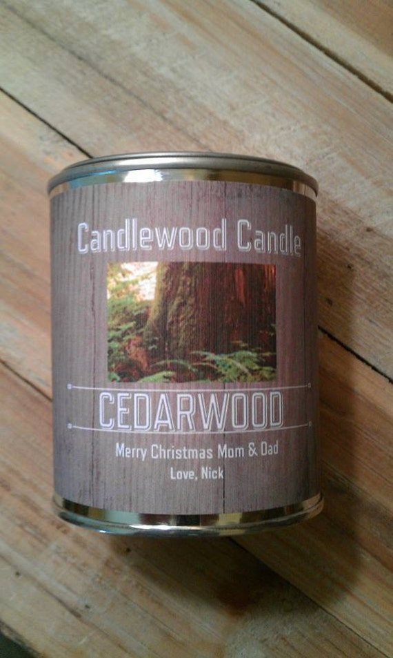 CEDARWOOD - PERSONALIZED Gift, Gift for Man, Gift for Woman, Custom Gift, Send your message, Free Shipping in United States 16 oz