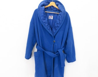 VINTAGE Incredible Vintage Royal Blue Winter Coat with Belt, sz. M