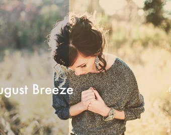 August Breeze - Lightroom Preset INSTANT DOWNLOAD