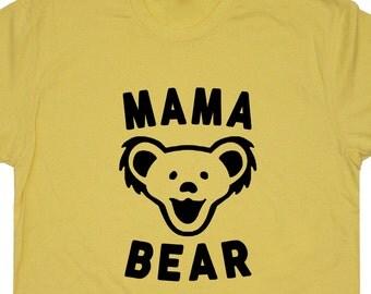 Mama Bear T Shirt Mom T Shirts Best Mom Ever T Shirt Worlds Okayest Mom T Shirt Cute New Mom To Be TShirts Womens Funny Mom Saying Tees