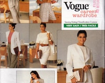 Vogue 2245, Career Wardrobe Pattern, Very,  Easy Sewing Pattern, Misses Size 12,14,16, Jacket, Dress, Top, Shorts and Pants Pattern,  1989