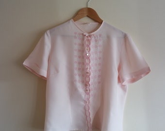 Vintage 1960's Pastel Pink Blouse