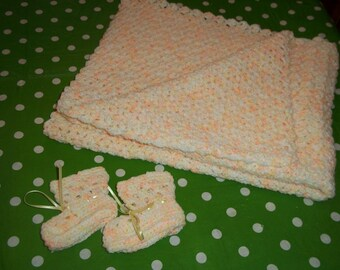 Peaches and cream layette set