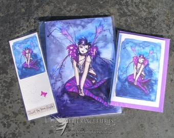 Roxy Purpletoes! Notebook, Bookmark and Handmade Card Gift Set