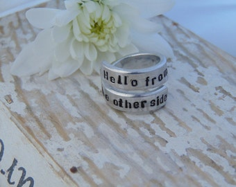 Adele Hello Ring, Adele Lyrics, Promise Ring, Anniversary Gifts For Her, His And Hers, Statement Ring, Long Distance Relationship