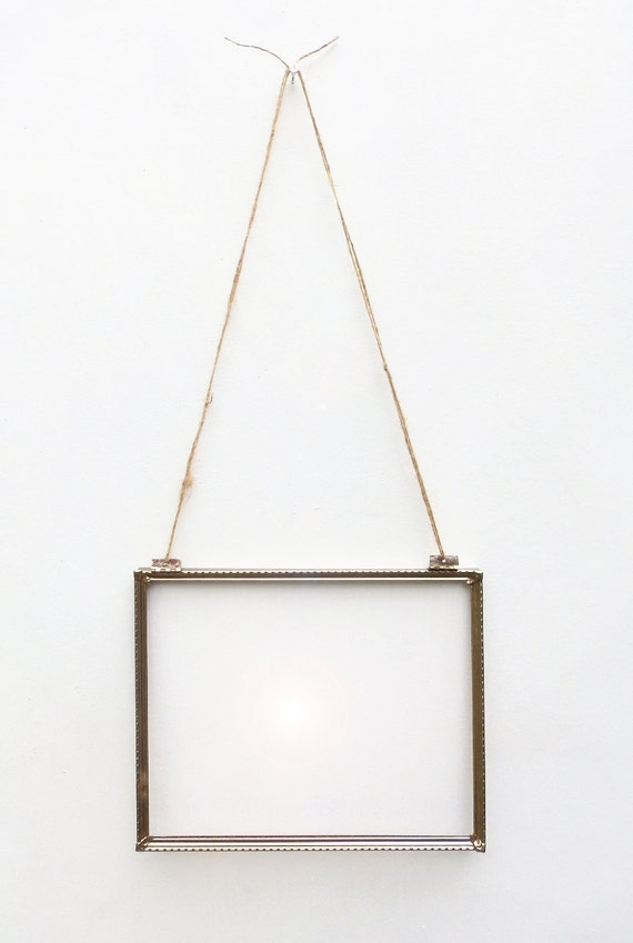 vintage hanging 8x10 gold frame hinged wall hanging vintage brass metal frame for 8x10