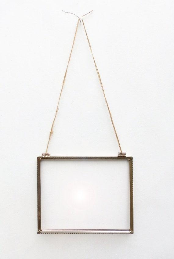 vintage hanging 8x10 gold frame hinged wall hanging vintage brass metal frame for 8x10