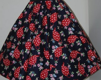 Teapots full circle skirt made to measure swing rockabilly