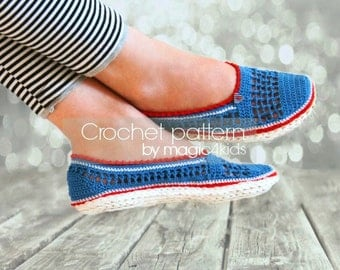 Crochet pattern: women loafers with jute rope soles,soles pattern included,women sizes,adult,women,slippers,shoes,girls,espadrilles,twine
