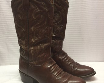 Dan Post Leather Boots, western boots,cowboy boots,Brown Leather ,Size 7.5, Womens,7.5