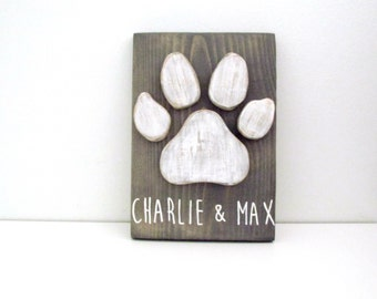 Dog Wall Decor - Dog Lover Gift - Dog Decor - Dog Paw - Personalized Dog Decor - Dog Mom - Pet Decor