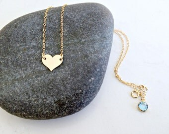 personalized heart choker heart necklace monogram necklace hand stamped initial aquamarine birthstone monogram jewelry heart jewelry gift