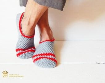 Mens Slippers, Mens House Slippers, Teen Boy Slippers, Gift for Dad, Gift for Men, Gift for Him, Fathers Day, Crochet. Slippers home