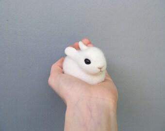 Needle-felted bunny - felted animals - rabbit toy - cute bunny - felted hare - felted toys - eco friendly - felted animal - felt doll - wool