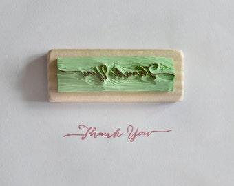 Timbro personalizzato con testo/frase- intagliato a mano - idea regalo