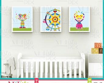 Nursery Wall Art, Circus Wall Art, Clown Wall Art, Children's Wall Art, Printable Wall Art, Instant Download