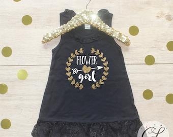 Flower Girl Dress / Petal Patrol Shirt Flower Girl Outfit Wedding Rehearsal Outfit Wedding Shirt Wedding Clothes Cute Flower Girl Shirt 017