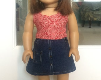 American Girl Denim Skirt