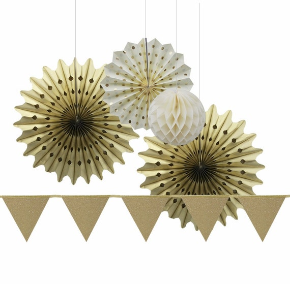 Gold wedding gold christmas party decoration kit gold snowflake
