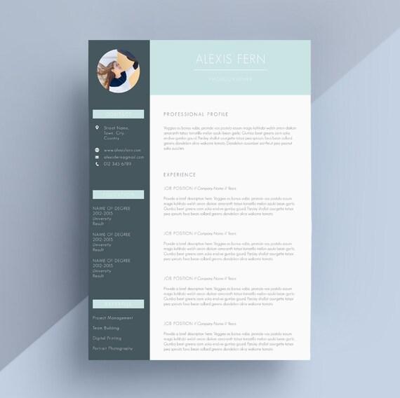 moderne resume    cv et couverture lettre mod u00e8le par ivybaydesigns
