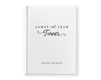 Wedding Guest book | guestbook Custom Made White Gloss A4 or A5 | Engagement party | Journal