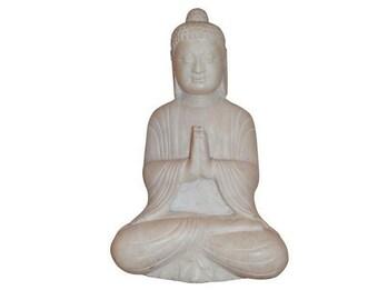 Antique White Marble Buddha Statue