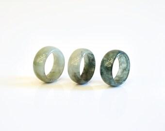 Mens Jade Ring - Natural Jadeite Jade Ring, Green Jade Ring/ Mens Gemstone Ring/ Mens Stone Ring/ Mens Jade Jewelry/ Jade Ring/ Gift for Him