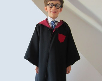 Wizard Cloak, Harry Potter Robe, Hogwarts, Ron, Hermione, Griffindor Lined Sewing Pattern Childrens Dressing Up Costume Digital Download Pdf