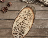 Work like a Captain, play like a Pirate - Wooden Sign - Wood Burning -  Nautical Decor - Ship - Rustic Decor - Man Cave - TimberleeEU
