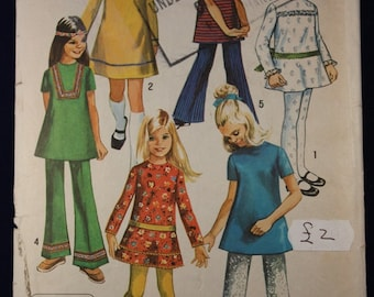 Girl's Dress, Tunic and Trousers in Size 12 - Simplicity 8527