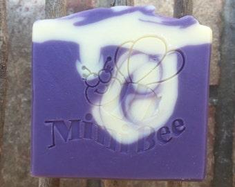 LAVENDER ROSEMARY Shea Butter Soap, Handmade Soap, Cold Process Soap, Moisturizing