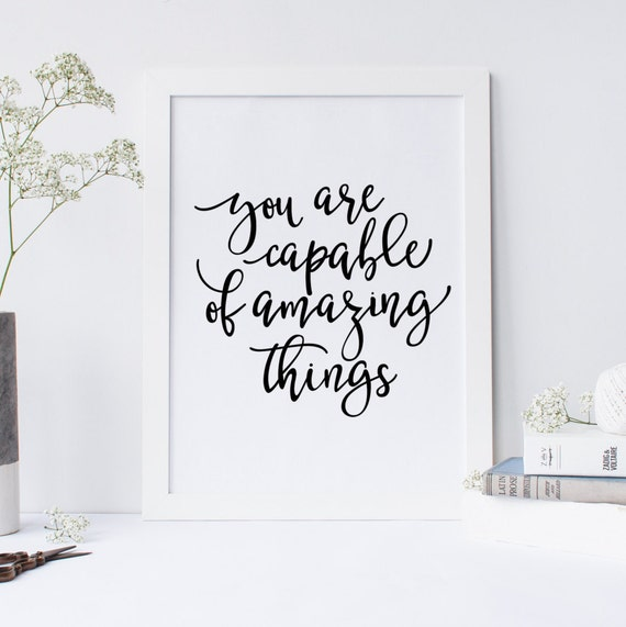 Inspirational Desk Accessories you are capable of amazing things quote inspirational quote