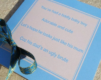 funny new baby card, baby boy card, new baby boy, rude baby card, funny baby card, rude new baby card, funny new baby, greeting card