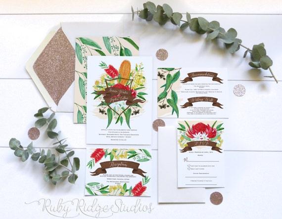 Native American Wedding Invitations: Printable Wedding Invitation Australian By RubyRidgeStudios