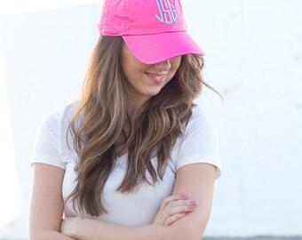 Monogram or Greek Baseball Hat- Women- Cap-Monogram Included!