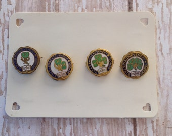 Antique 4 years of 4H pins | 4H | lapel pins | 1915-1918  | four leaf clover