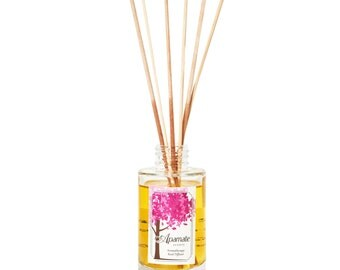 Citrus scented aromatherapy reed diffuser with Verbena, Orange & Lemon organic essential oils. Lovely house warming or new home gift.