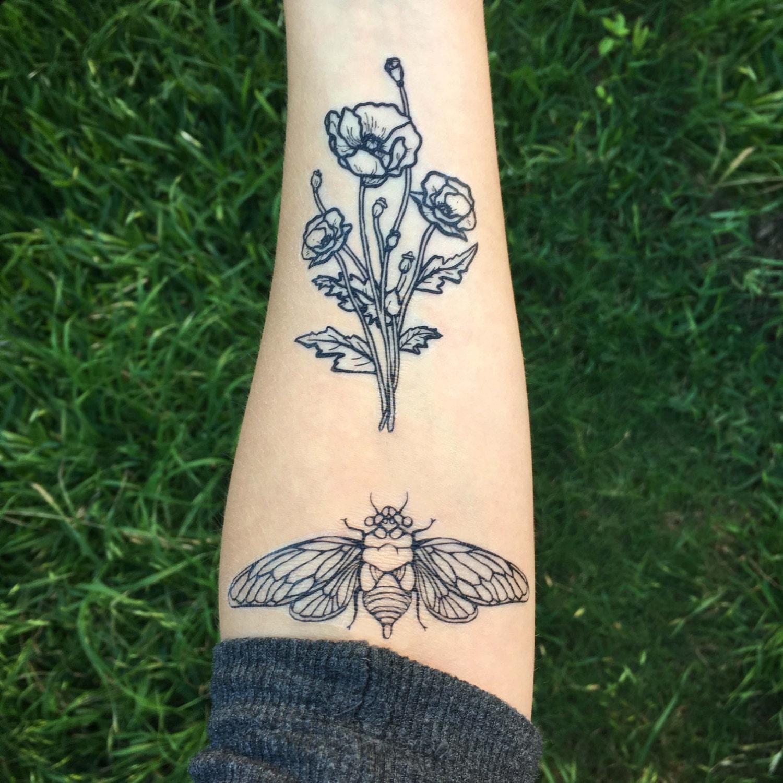 Symmetrical Tattoo Nature Designs