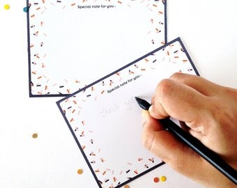 Special Note For You / Printable Note Card / Confetti Print Card / Gender Neutral Note Cards / Multiple Note Cards / Modern Card